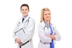 Een portret van een medisch team van artsen Stock Fotografie