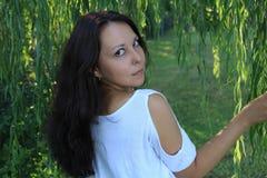Een portret van een mooie Aziatische vrouw stock foto
