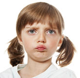 Een portret van een ontstemd meisje stock fotografie