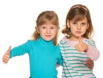 Twee mooie meisjes royalty-vrije stock foto's