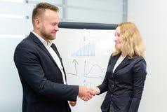 Een positieve vergaderingspartners stock afbeelding