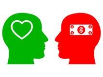 Een prachtig concept mensen` s liefde voor het creëren van verhoudingen stock illustratie