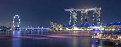 Een prentbriefkaarmening van Singapore Stock Afbeeldingen
