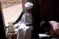 Een Priester in Lalibela Stock Foto's