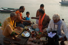Een priester in Varanasi Royalty-vrije Stock Fotografie