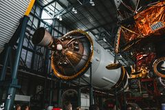 Een proces om een ruimteraketmotor te bouwen royalty-vrije stock fotografie