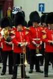 Protest bij Thatcher van de Barones begrafenis Royalty-vrije Stock Foto's