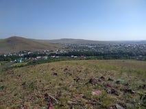 Een provinciale die stad in de verre provincies van Rusland wordt gevestigd stock afbeeldingen
