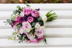 Een purpere huwelijksbloemen Royalty-vrije Stock Fotografie