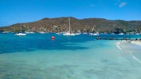 Een rasteller voor een regatta in de Caraïben Stock Afbeeldingen