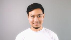 Een recht glimlach vriendschappelijk gezicht stock fotografie