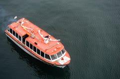Op zee de boot van de redding Stock Foto's