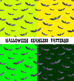 Een reeks achtergronden voor de vakantie Halloween, knuppel, een editable dossier, vier kleuren Stock Foto