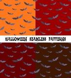 Een reeks achtergronden voor de vakantie Halloween, knuppel, een editable dossier, vier naadloze kleuren, Stock Afbeelding