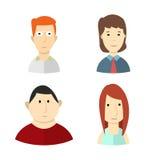 Een reeks avatars van jongeren Stock Afbeeldingen