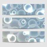 Een reeks banners Abstracte cirkelsgloed Vector illustratie Eps 10 Royalty-vrije Illustratie