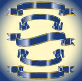 Een reeks blauwe banners Royalty-vrije Stock Foto's