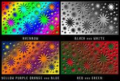Een reeks cijfers Kleurenchaos Stock Afbeelding