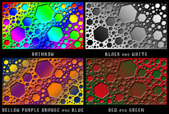 Een reeks cijfers Kleurenchaos Stock Foto's