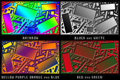 Een reeks cijfers Kleurenchaos Royalty-vrije Stock Foto