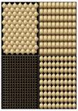 Een reeks de ringen en platen van kettingspantsers vector illustratie