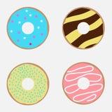 Een reeks donuts Stock Foto
