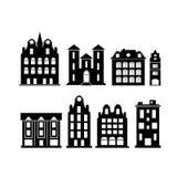 Een reeks elementen van de ontwerpstad Vector Illustratie