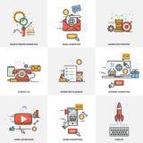 Een reeks elementen voor websiteontwerp Digitale Marketing Vector illustratie royalty-vrije illustratie