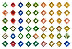 Een reeks emblemen, pictogrammen en grafische elementen Royalty-vrije Stock Foto