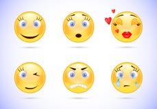 Een reeks emoticons Stock Fotografie