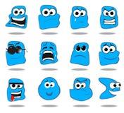 Een reeks emoticons Stock Foto's