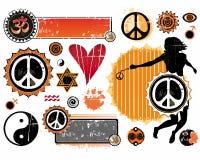 Een reeks Esoterische symbolen stock illustratie