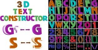 Een reeks gekleurde 3d brieven en tekens vector illustratie