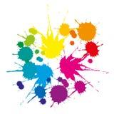 Een reeks gekleurde vlekken Stock Foto's