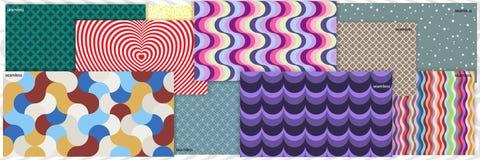 Een reeks geometrische patronen stock illustratie