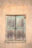 Een reeks gesloten blinden Stock Afbeelding