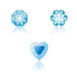 Een reeks grafische symbolen op juwelenthema Royalty-vrije Stock Foto's