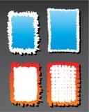 Een reeks grunge vectorachtergronden Stock Afbeelding
