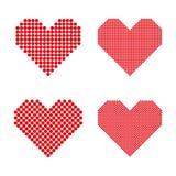 Een reeks halftone harten Stock Fotografie