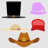 Een reeks hoeden Stock Foto's