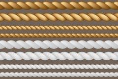 Een reeks kabels van verschillende grootte Vector illustratie Royalty-vrije Stock Foto