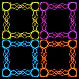 Een reeks kaders van verbindende stroken stock illustratie