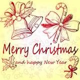 Een reeks Kerstmisdecoratie Stock Foto's
