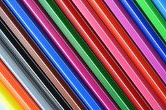Een reeks kleurenpennen Royalty-vrije Stock Foto's