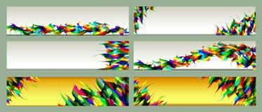 Een reeks kleurrijke malplaatjes van Webbanners Vat achtergronden samen Royalty-vrije Stock Afbeeldingen