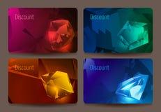 Een reeks kortingskaarten met edelstenen. Royalty-vrije Stock Foto