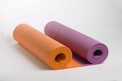 Een reeks matten voor yoga en pilates Royalty-vrije Stock Foto