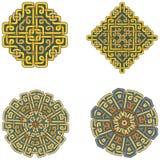 Een reeks mooie Keltische patronen Stock Afbeelding