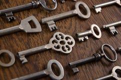 Een reeks oude sleutels Royalty-vrije Stock Afbeelding