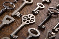 Een reeks oude sleutels Royalty-vrije Stock Afbeeldingen